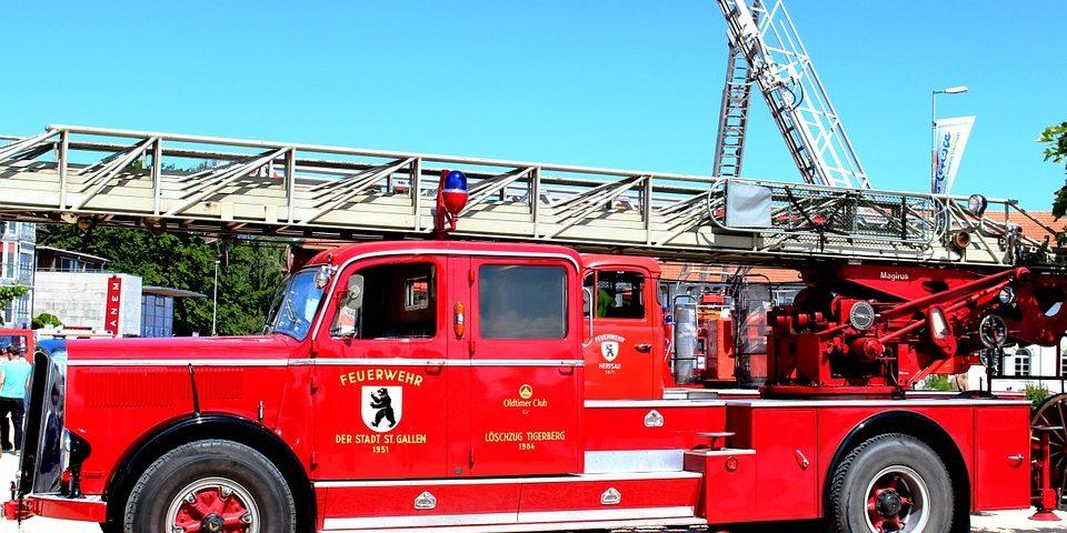 Eventbrandbilen med fadølsanlæg, stige og vandtank, så man også kan bruge den til vinduespudsning og bilpleje